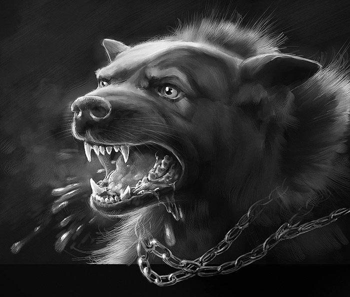 Злой пес картинка